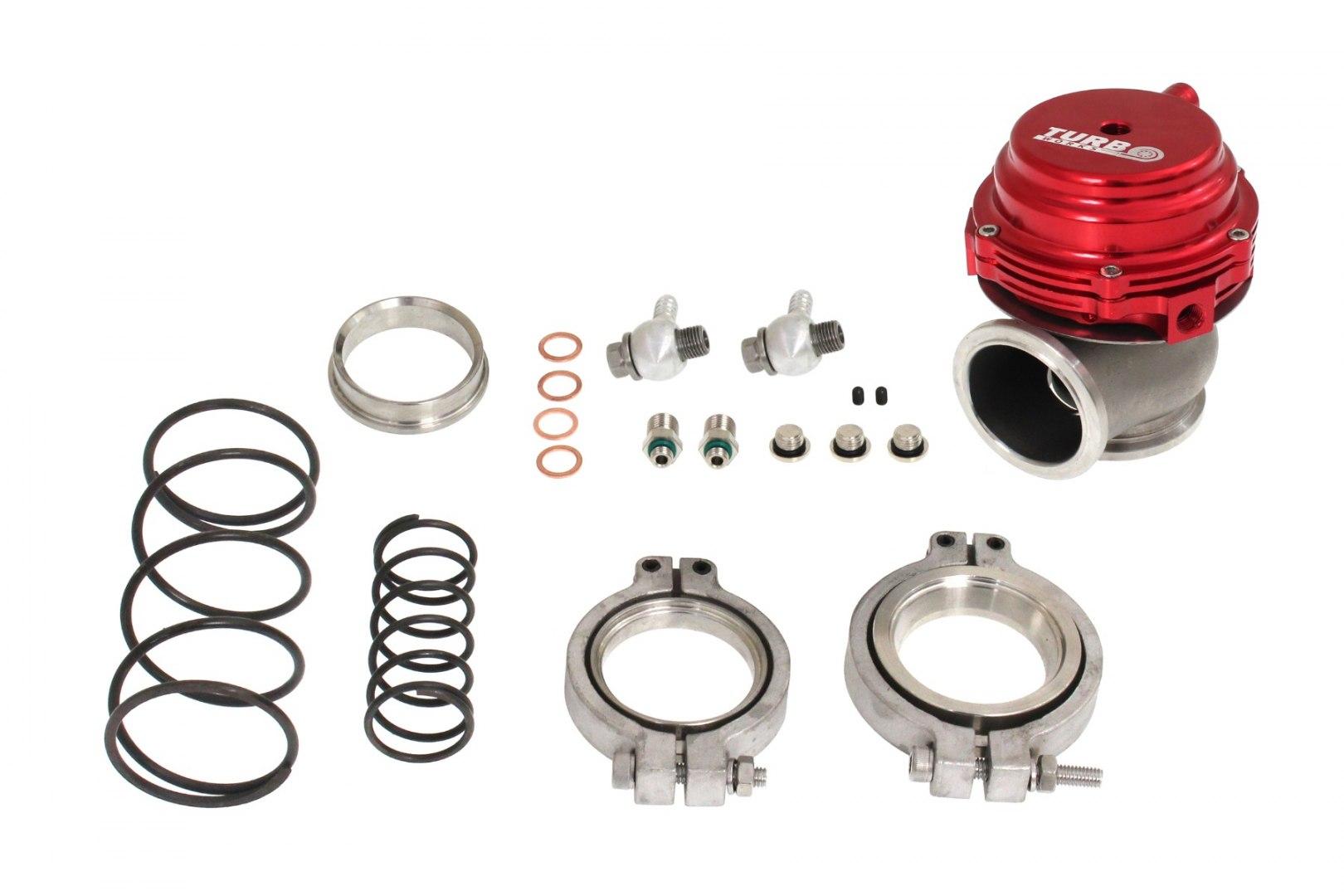 Wastegate zewnętrzny TurboWorks 44mm 1,6 Bar V-Band Red - GRUBYGARAGE - Sklep Tuningowy
